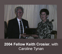 2004 HFAM Keith Crosier with Caroline Tynan