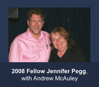 2008 HFAM Jennifer Pegg with Andrew McAuley