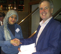 Presentation of AM2011 Doctoral Colloquium Prize to Yusra Khogeer
