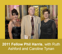 2011 HFAM Phil Harris with Ruth Ashford and Caroline Tynan
