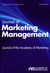 Journal of Marketing Management cover image